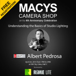 Again, MACYS Camera Shop on it's 4th Year Anniversay Celebration   brings you Understanding the Basic of Studio Lighting Workshop   (+ Model Shootout) with Adobe Certified Expert Albert Pedrosa On   April 24, 2015 (Friday), 1-5pm at SM City, Cebu, Hall C. FREE   REGISTRATION - please come to MACYS Banilad or APM Mall Branches now :)