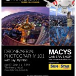 MACYS on it's 3rd Year Anniversary brings you Drone/Aerial Photography with Jayjay Neri on April 7, 2014 1-5pm at The Henry Hotel. Registration on-going for FREE at MACYS Banilad and APM Mall Branches :) Limited slots left :)