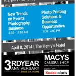 MACYS on it's 3rd Year Anniversary together with Kodak Alaris brings you New Trends on Events Photography Business and Photo Printing Solutions and Business Opportunities with Jerome Nicdao on April 8, 2014 8:30-11am and 1-4pm at The Henry Hotel. Registration on-going for FREE at MACYS Banilad and APM Mall Branches :) Very Limited slots left :)