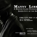 Manny Librodo - A Master Class Workshop :)  Cebu City, May 17-18, 2014 May 17 - Photoshoot Workshop (San Diego Ancestral House) May 18 - Post Processing Workshop (Golden Prince Hotel)  For inquiries, please get in touch with;  Jhunny Sandoval- 0943 3322033 Alex Yap- 0922 4050595  Email: joffre.ferrater@gmail.com