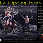 "Studio Lighting Techniques Workshop by John Fick  (Fashion Photographer based in Ausrailia and Author of ""Lighting for Studio Photography DECODED"")  Please see poster for more details :) Thanks"